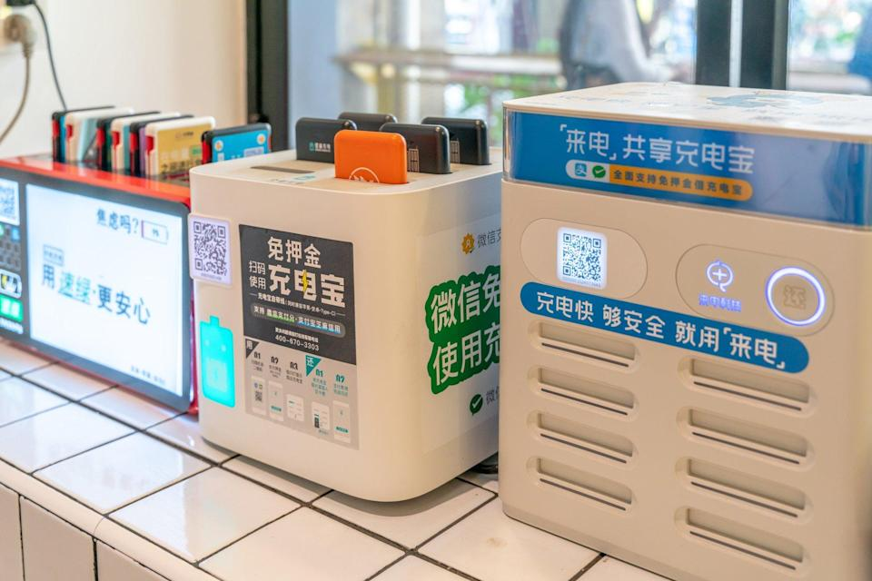 Shared power banks have found success in China with start-ups such as Energy Monster attracting investment from the likes of SoftBank Ventures Asia, Hillhouse Capital and Alibaba Group Holding. Photo: Shutterstock