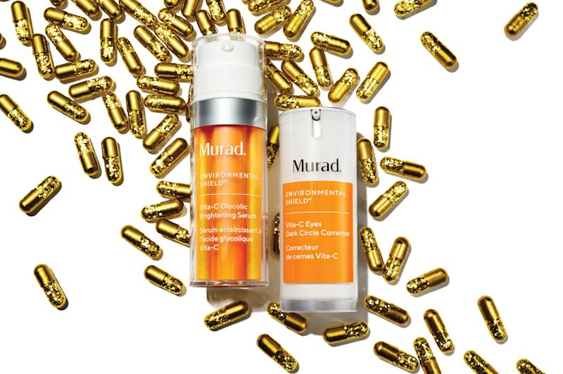 Murad Vita-C Glycolic Brightening Serum and Vita-C Eyes Dark Circle Corrector. (Credit: Murad)