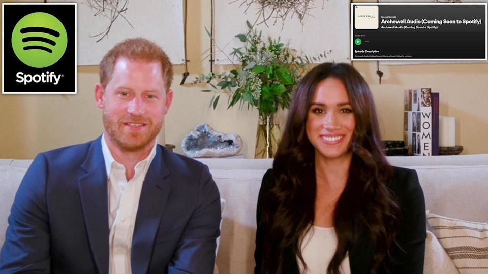 Prince Harry, Meghan Markle drop their first Spotify podcast