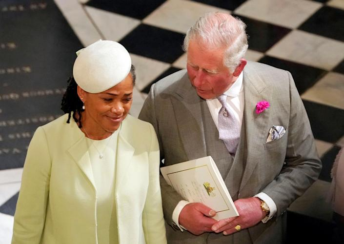 Doria Ragland was the only member of Meghan's family at her wedding, and Charles walked Meghan down the aisle. (Reuters)