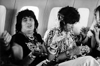 <p>Ronnie Wood and Keith Richards during the Rolling Stones' 1975 Tour of the Americas. </p>