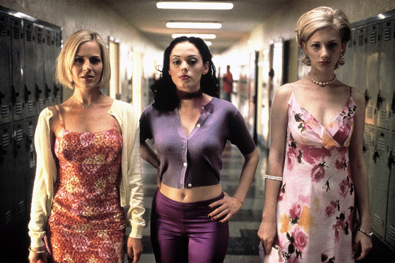 """<p><em>""""That's Courtney--she was the leader. She was like Satan in heels.""""</em></p>  <p>Courtney did this thing throughout the movie, usually in scenes where she was being her pure, bad self, where she would match her retro-inspired ensembles to her eyeshadow, and I was living for it. Here, a frosted purple coated her lids, and was topped off by mirror-like gloss, and curls stronger than her willpower to keep her dirty litte secret about Liz. I was also very much in love with every beauty look Marcie wore, and made it a mission for years to track down a metallic pink lipgloss just like the one she had throughout the film. Eventually, I came across MAC's since-discontinued Lipglass in Prrr, which seemed appropriate. Vylette, as usual, sticks to her rosy color scheme, though is still sort of getting the hang of this whole """"resting bitch face"""" thing.</p>"""