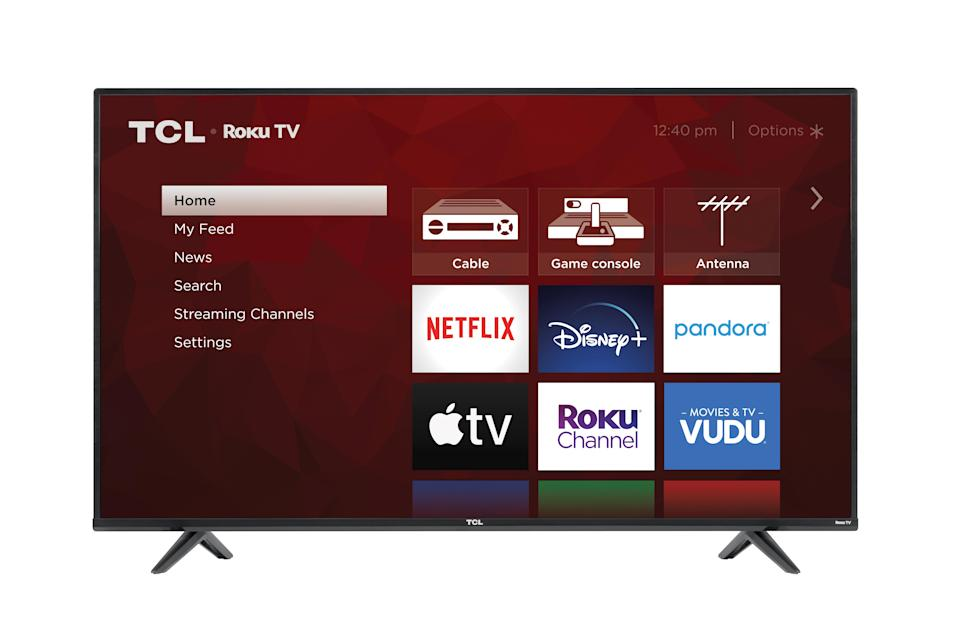 Snagging this his big, brawny TCL set for less than 400 bucks = some TLC for your credit card balance.  (Photo: Walmart)