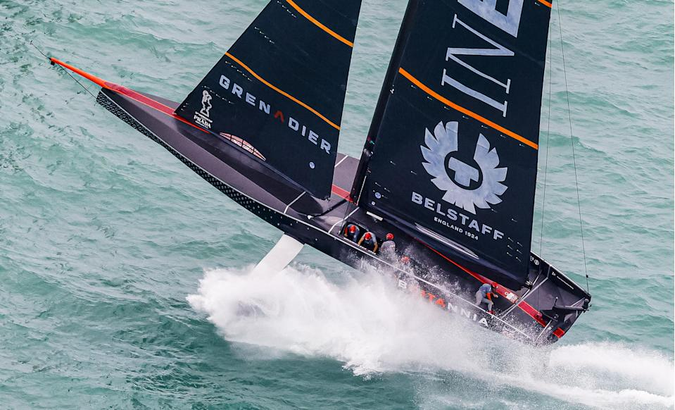Sir Ben Ainslie nearly suffered a start line wipeout as his America's Cup challenge sustained another blow in Auckland © COR 36 | Studio Borlenghi