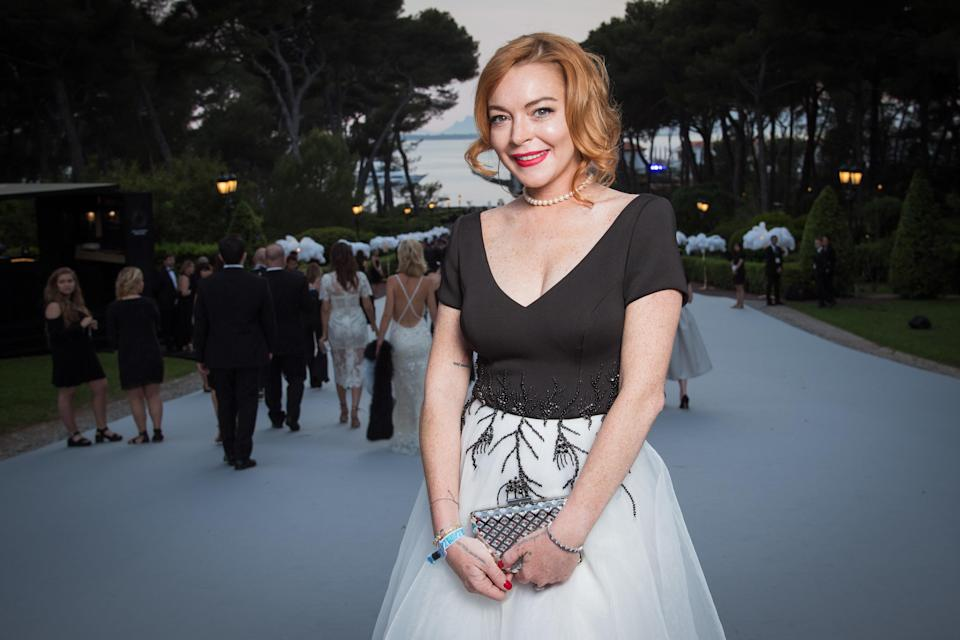 Lohan at the amfAR Gala in Cannes on May 25. (Pascal Le Segretain/amfAR2017 via Getty Images)