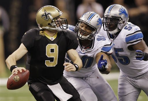 Saints open playoffs with 45-28 win over Lions