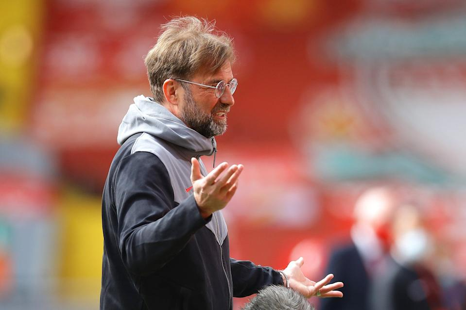 "<p>Klopp: ""It's a point but it feels like a defeat""</p> (Getty Images)"