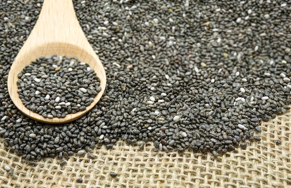 "<p>Chia and flaxseeds are a great source of a <a href=""https://www.popsugar.com/fitness/difference-between-probiotics-prebiotics-47155668"" class=""link rapid-noclick-resp"" rel=""nofollow noopener"" target=""_blank"" data-ylk=""slk:prebiotics"">prebiotics</a>, which is food for the probiotics in the gut, Dr. Dixit explained. Prebiotics help healthy bacteria grow and get your gut back into homeostasis. They can also help you get to your daily requirement of fiber (<a href=""https://www.popsugar.com/fitness/how-much-fiber-should-i-eat-day-to-lose-weight-46848030"" class=""link rapid-noclick-resp"" rel=""nofollow noopener"" target=""_blank"" data-ylk=""slk:25 grams a day"">25 grams a day</a>) faster since two tablespoons is equivalent to <a href=""https://www.popsugar.com/fitness/Chia-Seeds-vs-Flaxseeds-40901532"" class=""link rapid-noclick-resp"" rel=""nofollow noopener"" target=""_blank"" data-ylk=""slk:eight grams"">eight grams</a>. Fiber is essential for digestion and staying regular.</p>"