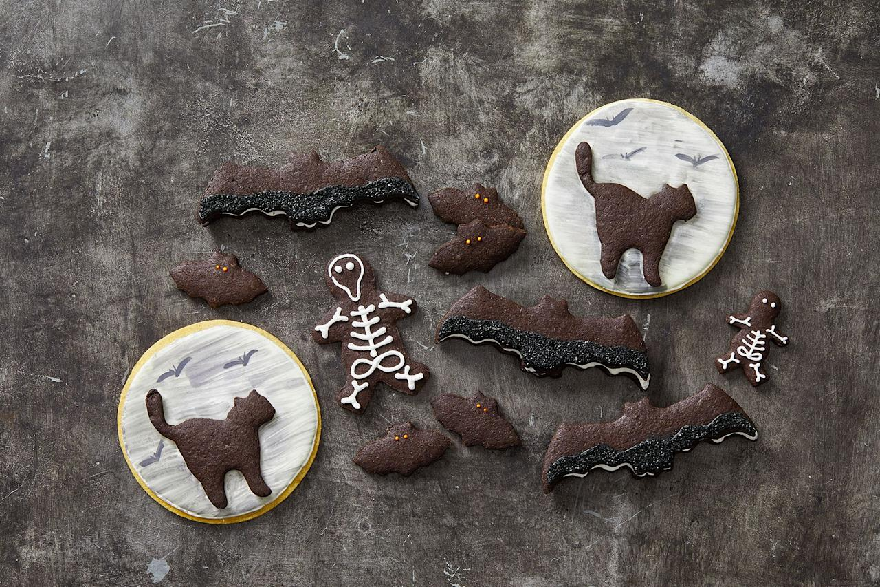 "<p>Come <a href=""https://www.goodhousekeeping.com/holidays/halloween-ideas/"" target=""_blank"">October 31</a>, the best way to get in the spooky spirit is with homemade Halloween cookies. With these better-than-candy ideas, you can choose to make your dough from scratch or upgrade store-bought treats with chocolate, icing, and edible decorations. Whether you choose to make meringues, sandwich cookies, or makeover ready-made baked goods, these easy and <a href=""https://www.goodhousekeeping.com/holidays/halloween-ideas/g244/halloween-desserts/"" target=""_blank"">delicious desserts</a> will serve as the ultimate warmup for your kid's trick-or-treating festivities. Plus, if you're planning a Halloween party, these grab-and-go treats, which are best served with one of these <a href=""https://www.goodhousekeeping.com/holidays/halloween-ideas/g3718/best-halloween-cocktails/"" target=""_blank"">non-alcoholic brews or party punches</a>, let your guests satisfy their sweet tooth without stealing the other <a href=""https://www.goodhousekeeping.com/holidays/halloween-ideas/g3727/halloween-appetizer-recipes/"" target=""_blank"">party snacks</a>' thunder. (We're talking about deviled eyeballs, obviously.)</p><p>Since most of  these treats are totally kid-friendly, get your own <a href=""https://www.goodhousekeeping.com/holidays/halloween-ideas/g22062770/halloween-crafts-for-kids/"" target=""_blank"">little monsters</a> involved to help make these ghost, mummy, and witch cookies. Or just have 'em decorate the monster cookies because, well, it makes sense. Before you start baking these spooky yet sweet recipes (FYI, we included some no-bake cookie options, too.), gather your most festive sprinkles, food coloring, icing, and cookie cutters. Once you have all your necessary decorating supplies, grab your apron (or <a href=""https://www.goodhousekeeping.com/holidays/halloween-ideas/a24170356/diy-witch-costume/"" target=""_blank"">witch costume</a>, your call) and get creative with <a href=""https://www.goodhousekeeping.com/holidays/halloween-ideas/g565/halloween-party-ideas/"" target=""_blank"">these party-ready ideas</a>. </p>"