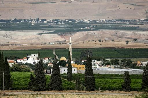 Jordanian villages can be seen in the background just kilometres from the Palestinian village of Ayn al-Bayda lying in the Jordan Valley in the occupied West Bank