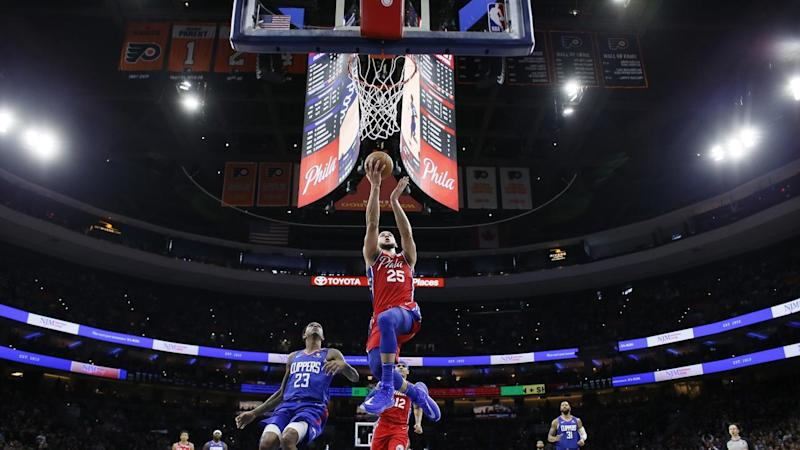 Clippers 76ers Basketball