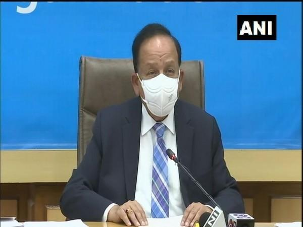 Union Health Minister Dr Harsh Vardhan chairing WHO executive board meeting via video conferencing on Monday. (Photo/ANI)