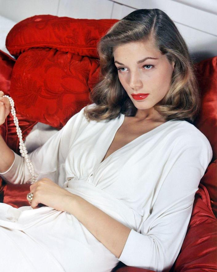 """<p>Lauren Bacall went through a series of voice lessons when she first signed with film director Howard Hawks at Warner Bros. It was through these sessions that the actress <a href=""""https://www.sheknows.com/entertainment/articles/1046953/things-you-didnt-know-about-lauren-bacall/"""" rel=""""nofollow noopener"""" target=""""_blank"""" data-ylk=""""slk:developed the sultry low voice"""" class=""""link rapid-noclick-resp"""">developed the sultry low voice</a> she became known for and that set her apart from her peers.</p>"""
