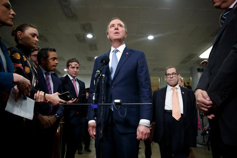 Adam Schiff delivered a rousing 90-minute statement to close out Friday's arguments.