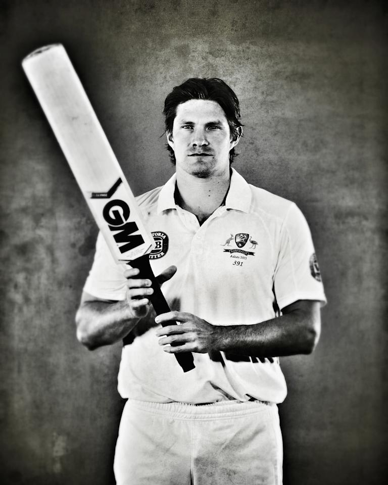WORCESTER, ENGLAND - JULY 01:  (EDITORS NOTE: This image was processed using digital filters) Shane Watson of Australia poses on July 1, 2013 in Worcester, England.  (Photo by Ryan Pierse/Getty Images)