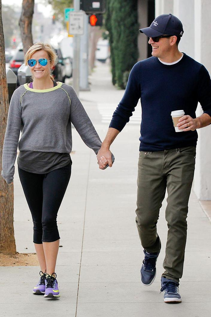 """<p>After just less than a year of dating, Oscar winner Reese got engaged to the talent agent around Christmastime 2010, per  <a class=""""link rapid-noclick-resp"""" href=""""https://people.com/celebrity/reese-witherspoon-engaged-to-jim-toth/"""" rel=""""nofollow noopener"""" target=""""_blank"""" data-ylk=""""slk:People""""><em>People</em></a>.</p>"""