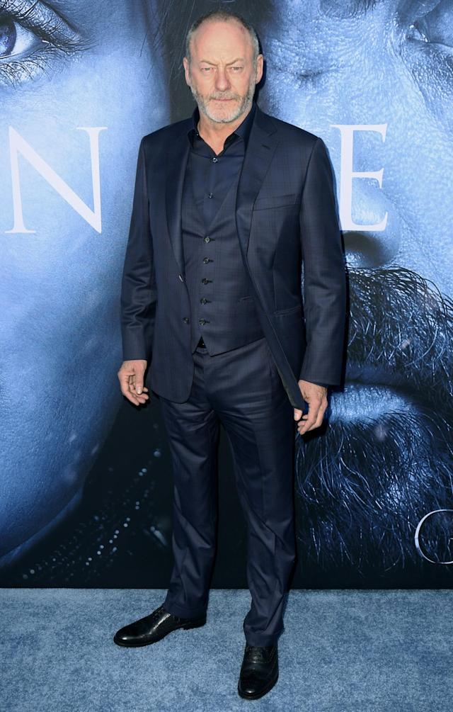 <p>Sir Davos himself turned up in a checked navy suit. (Photo: AP) </p>