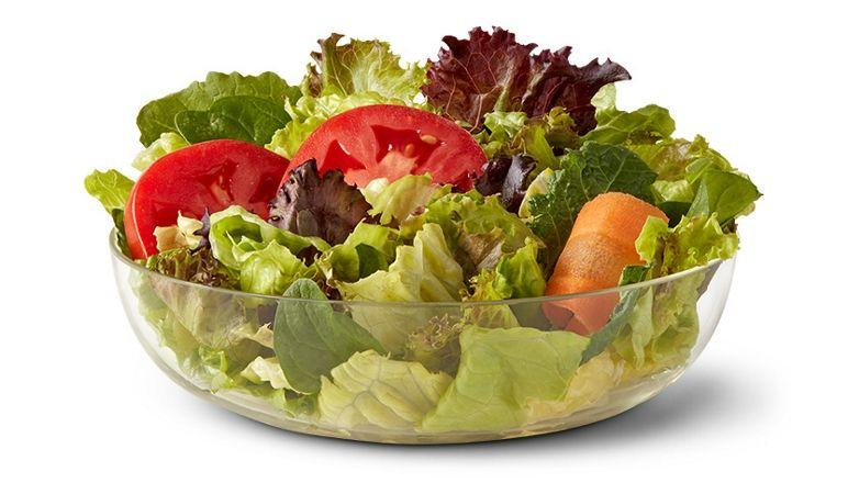 <p>Bet you never thought you could get your greens in at McD's, huh. </p><p>With just 15 milligrams of sodium and barely-there calories (which is the better choice if it's between that or a calorie bomb), it's one of the best options on the menu, says Taub-Dix. Dress it with the Newman's Own Low-Fat Balsamic. <br></p><p><em>Per serving: 15 calories, 0 g fat (0 g sat fat), 15 mg sodium, 3 g carbs, 1 g fiber, 1 g sugar, 1 g protein</em></p>