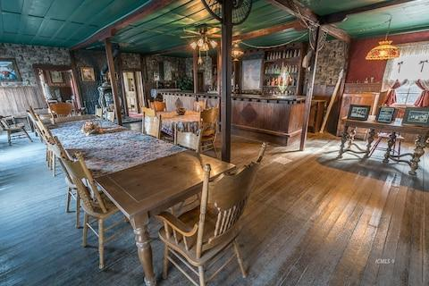 The town's well-preserved saloon - Credit: Bishops Real Estate