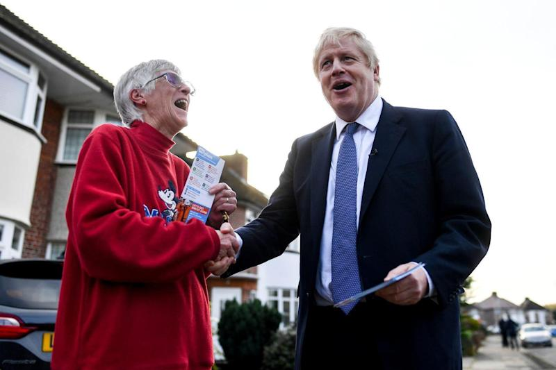 Boris Johnson campaigning in Uxbridge