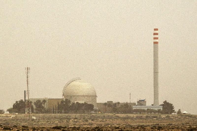 A picture taken on March 8, 2014 show a partial view of the Dimona nuclear power plant in the southern Israeli Negev desert