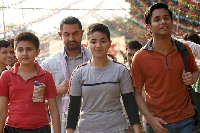 A still from the film, Dangal