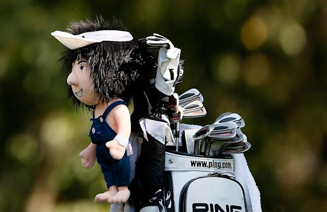 ATLANTA, GA - SEPTEMBER 21: A view of Bubba Watson's driver headcover on the 16th hole during the second round of the TOUR Championship by Coca-Cola at East Lake Golf Club on September 21, 2012 in Atlanta, Georgia. (Photo by Kevin C. Cox/Getty Images)