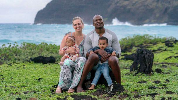 PHOTO: Lindani Myeni is pictured in Hawaii with his wife Lindsay Myeni and their two children in an undated handout photo. (Philbroux Richardson)
