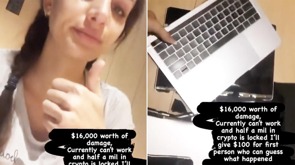 Vanessa Sierra, pictured here claiming Bernard Tomic caused $16,000 worth of damages.