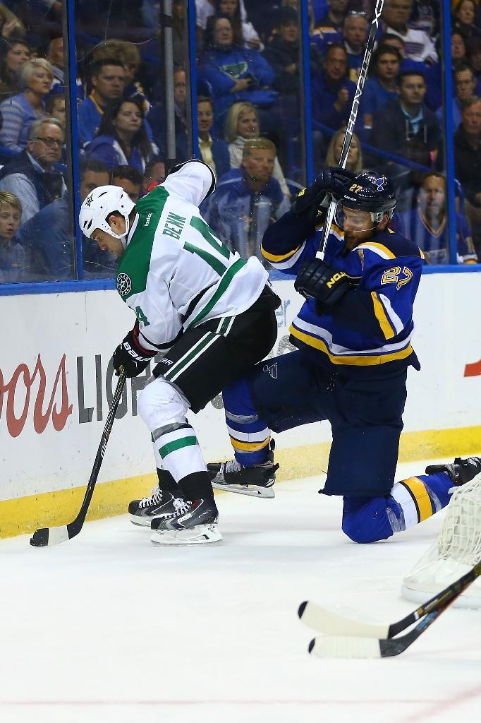 Dallas captain Jamie Benn (L) said this was the most important game of the season for the Stars (AFP Photo/Dilip Vishwanat)