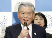 FILE PHOTO: Saburo Kawabuchi, Tokyo 2020 Olympic Games athletes village mayor and former Japan Football Association president, speaks during a news conference in Tokyo