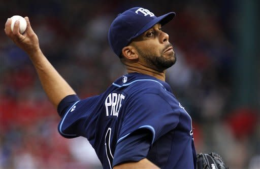 Price beats Rangers for first time, Rays win 5-2