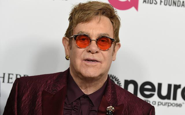 <span>Sir Elton John contacted Anthony Joshua on the eve of the fight</span> <span>Credit: Jordan Strauss/Invision/AP </span>