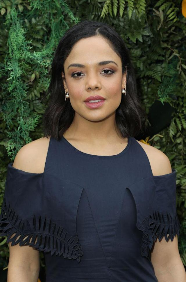 Tessa Thompson attends the Fourth Annual Veuve Clicquot Carnaval on March 10, 2018, in Miami. (Photo: Alexander Tamargo/WireImage)
