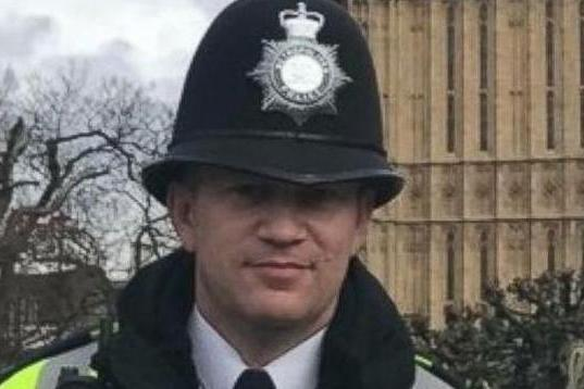 'Last picture': This poignant picture of Keith Palmer is thought to be last taken before his murder