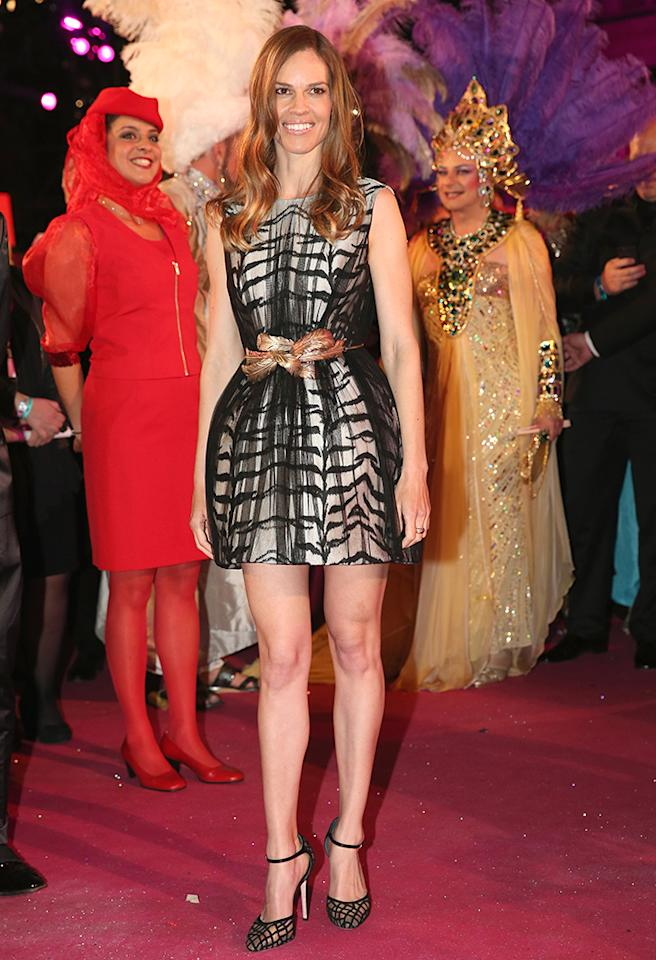 VIENNA, AUSTRIA - MAY 25:  Hilary Swank attends the 'Life Ball 2013 - Magenta Carpet Arrivals' at City Hall on May 25, 2013 in Vienna, Austria.  (Photo by Sean Gallup/Life Ball 2013/Getty Images)
