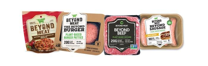 A selection of Beyond Meat products.