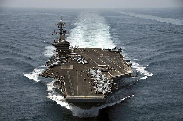 The USS Theodore Roosevelt aircraft carrier is currently conducting security operations in the Gulf (AFP Photo/Anthony N. Hilkowski)