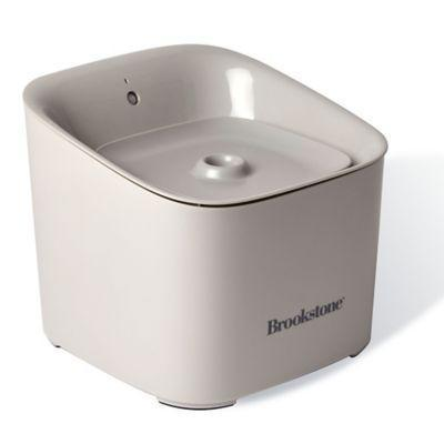 """<p><strong>Brookstone</strong></p><p>bedbathandbeyond.com</p><p><strong>$39.99</strong></p><p><a href=""""https://go.redirectingat.com?id=74968X1596630&url=https%3A%2F%2Fwww.bedbathandbeyond.com%2Fstore%2Fproduct%2Fbrookstone-reg-pet-water-fountain-in-natural%2F5389088&sref=https%3A%2F%2Fwww.marieclaire.com%2Fhome%2Fg24851290%2Fbest-dog-gifts%2F"""" rel=""""nofollow noopener"""" target=""""_blank"""" data-ylk=""""slk:SHOP IT"""" class=""""link rapid-noclick-resp"""">SHOP IT</a></p><p>Worry no more about how long your dog's water bowl has been left out for (that water gets <em>gross </em>after a day or two). Just fill up this sensor-based pet water fountain at the sink, and whenever your dog gets close to the fountain, it'll spout out as much water as he or she needs. There's also a replaceable carbon filter, so you know the water's top-quality.</p>"""