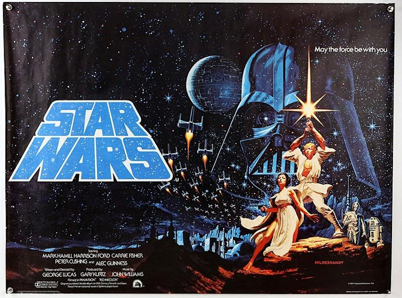 An early Star Wars poster is one of the items up for auction (Courtesy of Ewbank's Auctions)