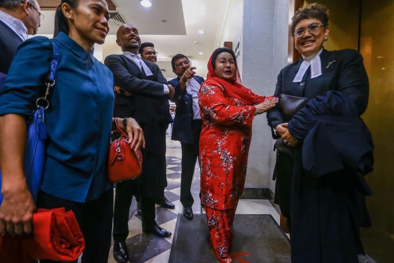 Datin Seri Rosmah Mansor is seen at the Kuala Lumpur Court Complex June 18, 2019. — Picture by Hari Anggara