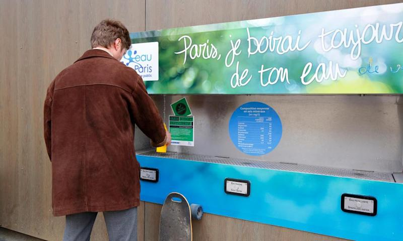 Water fountains, which include a sparkling option, installed as part of the Paris participatory budget.