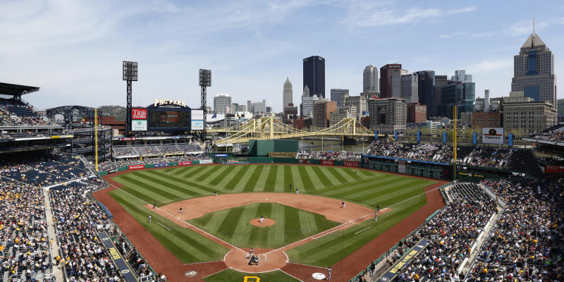 </a> PITTSBURGH, PA - MAY 7: General view of the stadium and downtown skyline during the game between the San Francisco Giants and the Pittsburgh Pirates at [f500link]PNC[/f500link] Park on May 7, 2014 in Pittsburgh, Pennsylvania. The Pirates won 4-3. (Photo by Joe Robbins/Getty Images)Joe Robbins Getty Images