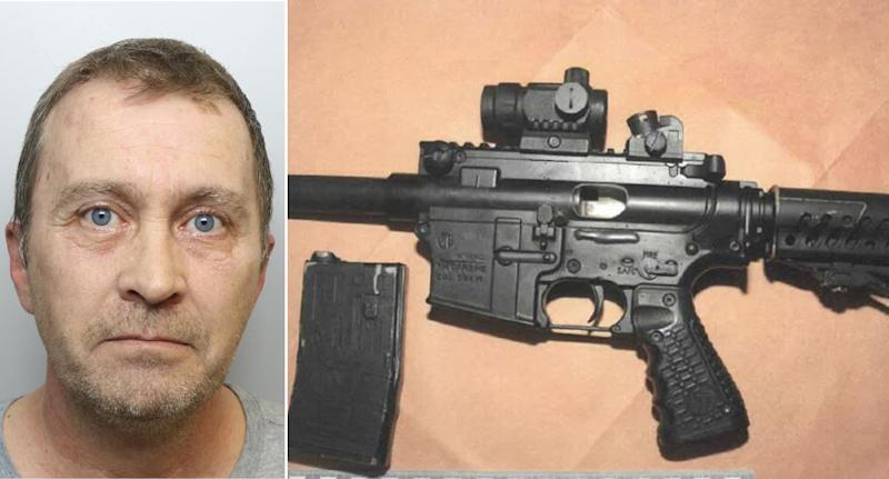 Neil McFarlane, left, has been jailed for manufacturing firearms. (West Yorkshire Police)