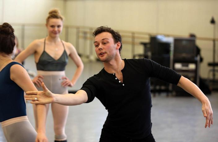 Liam Scarlett as the Royal Ballet's artist in residence working with New York City Ballet dancers in New York, January 2014 - Andrea Mohin/New York Times/Redux/eyevine