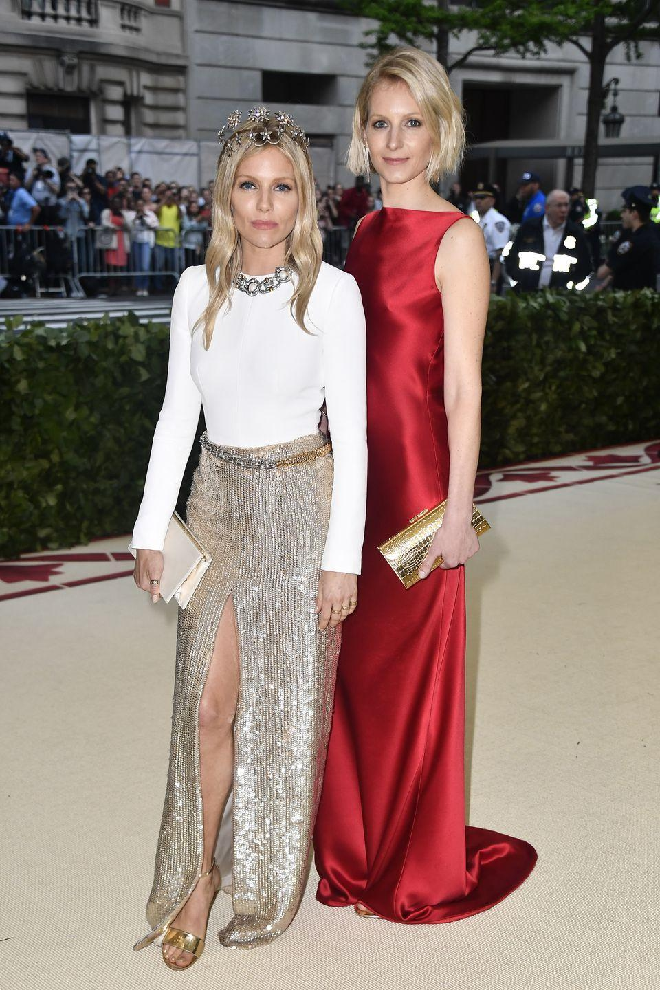<p>While Sienna Miller is known for her red carpet style, her older sister Savannah is a fashion insider in her own right, having worked for some of Britain's top design houses. An eye for fashion isn't their only common trait: They both share a similar profile and blue eyes. </p>
