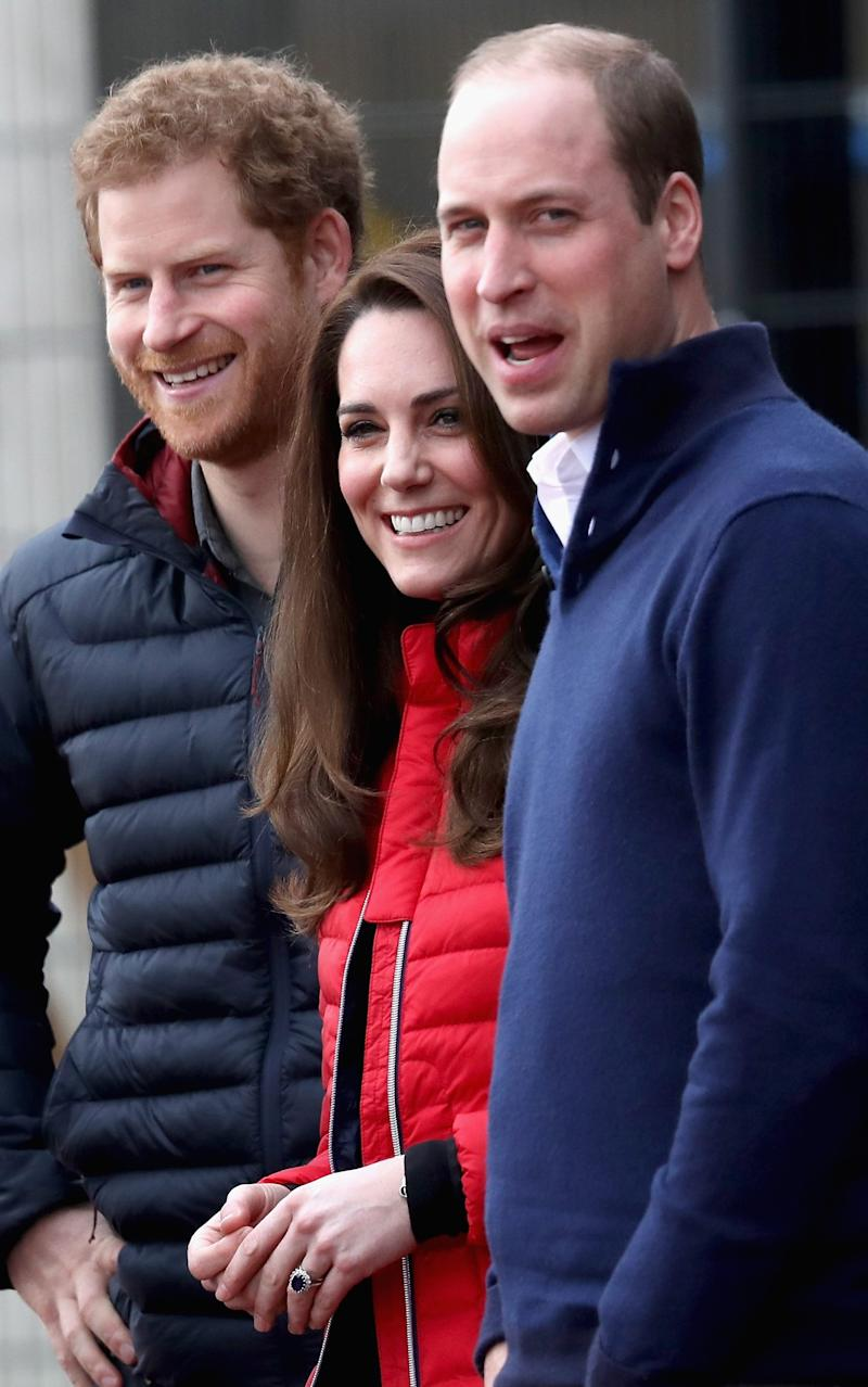 Prince William, Duke of Cambridge and Catherine, Duchess of Cambridge and Prince Harry join Team Heads Together at a London Marathon Training Day - Credit: Chris Jackson /Getty