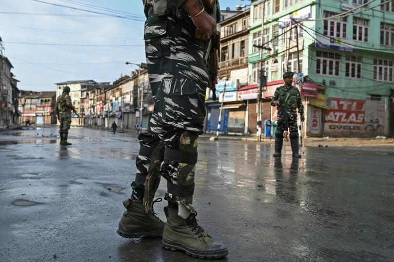 New Delhi announced Monday that the Indian-held part of Kashmir had been brought under its direct rule and has kept the region on lockdown for four straight days (AFP Photo/Tauseef MUSTAFA)