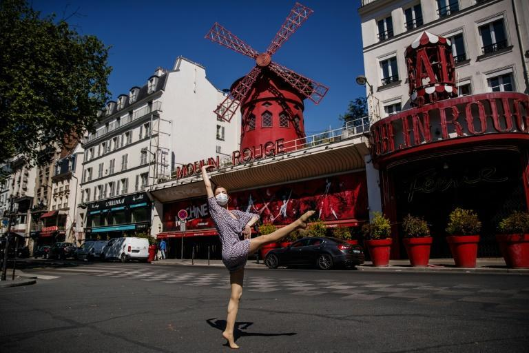 Like many cafes and restaurants, the employees at the Moulin Rouge have taken advantage of the break to spruce up the place