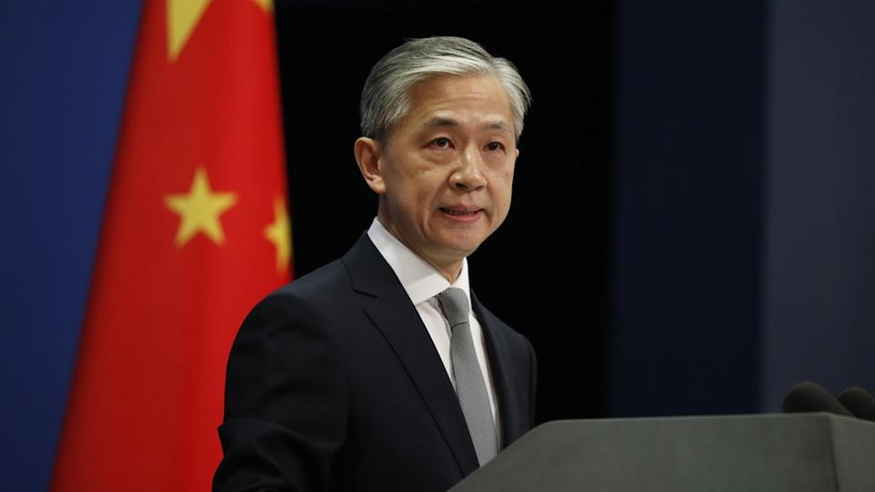 China foreign ministry spokesman Wang Wenbin at a press conference on 23 July
